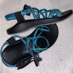 Blue/Green Toe Strap Chaco's Z Cloud